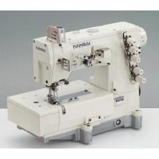 Kansai Special WX-8803C 1/4 Промышленная плоскошовная швейная машина с плоской платформой
